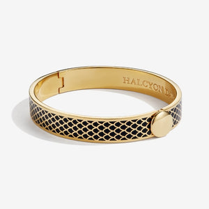 "Halcyon Days ""Salamander Black & Gold"" Bangle"