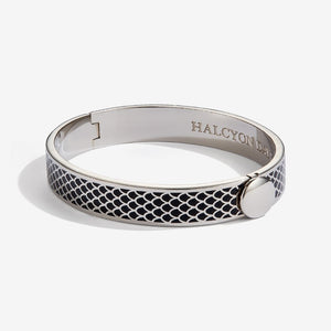 "Halcyon Days ""Salamander Black & Palladium"" Bangle"