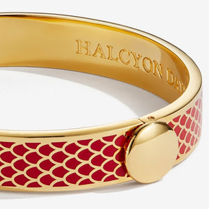 "Halcyon Days ""Salamander Red & Gold"" Bangle"