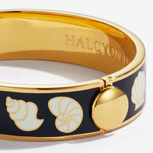 "Load image into Gallery viewer, Halcyon Days ""Shells Black Cream & Gold"" Bangle"