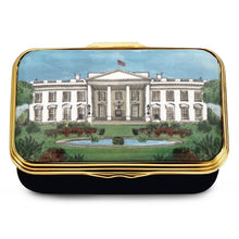 "Load image into Gallery viewer, Halcyon Days ""The White House in the Summer"" Enamel Box"