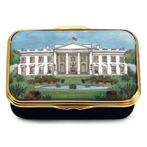 "Halcyon Days ""The White House in the Summer"" Enamel Box"