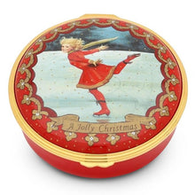 "Load image into Gallery viewer, Halcyon Days ""Christmas Ice Skater"" Enamel Box"
