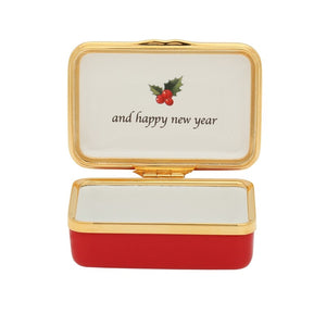 "Halcyon Days ""All Good Wishes for Christmas"" Enamel Box"