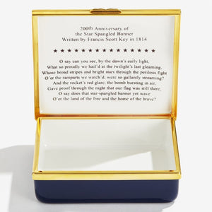 "Halcyon Days ""The Star Spangled Banner - Large"" Enamel Box"