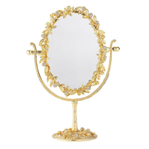 Olivia Riegel Gold Cornelia Oval Magnified Standing Mirror