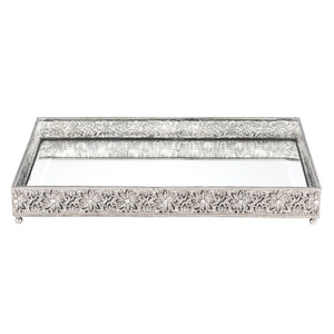 Olivia Riegel Silver Windsor Large Beveled Mirror Tray