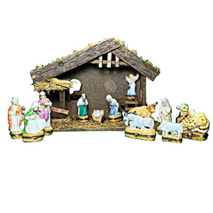 "Rochard ""Satin Nativity Set - 12 Pieces"" Limoges Box"