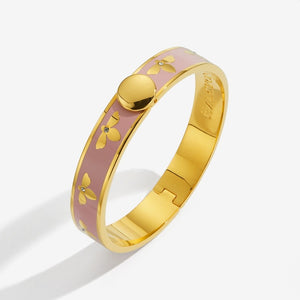 "Halcyon Days ""Bee Pink & Gold"" Bangle"