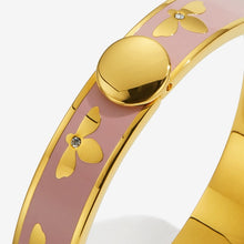 "Load image into Gallery viewer, Halcyon Days ""Bee Pink & Gold"" Bangle"