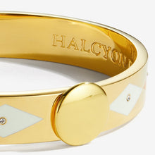 "Load image into Gallery viewer, Halcyon Days ""Sparkle Orange Cream & Gold"" Bangle"