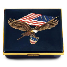 "Load image into Gallery viewer, Halcyon Days ""The Star Spangled Banner - Large"" Enamel Box"