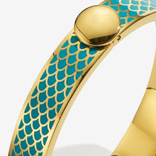 "Load image into Gallery viewer, Halcyon Days ""Salamander Turquoise & Gold"" Bangle"