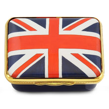 "Load image into Gallery viewer, Halcyon Days ""The Union Flag"" Enamel Box"