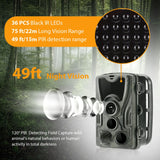 Trail Hunting Camera HC801A 16MP 1080P IP65 Waterproof  Cameras Night Version Photo Trap 0.3s Trigger Wildlife Cams Solar Panel