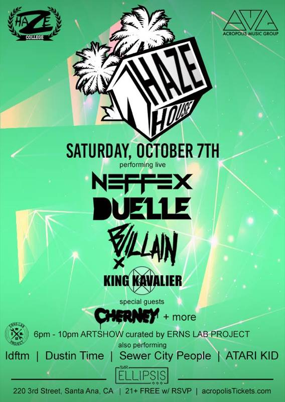 HAZE HOUSE O.C. Saturday, October 7, 2017 at 6 PM - 2 AM PDT
