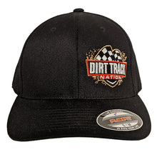 Load image into Gallery viewer, Dirt Track Nation Black Flex-Fit Hat
