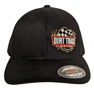 Dirt Track Nation Black Flex-Fit Hat
