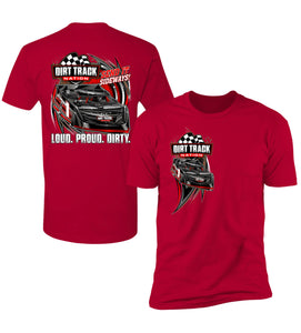 Dirt Late Model Double Sided Men's T-Shirt