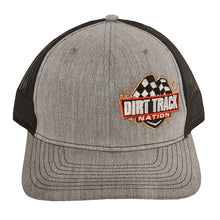 Load image into Gallery viewer, Dirt Track Nation Grey w/ Black Mesh Hat