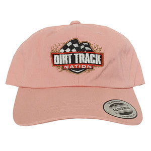 Dirt Track Nation Ladies Pink Slouch Hat