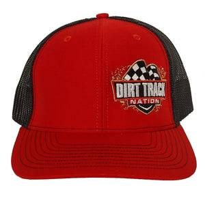 Dirt Track Nation Red w/Black Mesh Hat