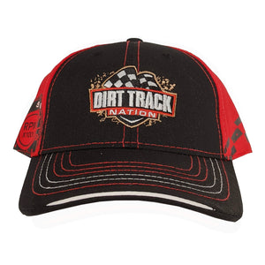 Dirt Track Nation Black w/ Red 'RPM' Hat