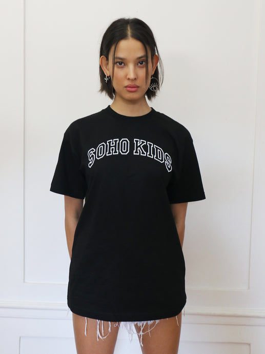 Black Soho Kids Arch Logo Tee