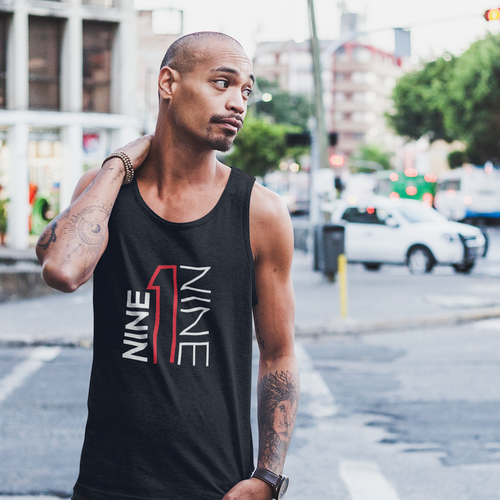 919 tank top in black.  919Brand has Raleigh, Durham, Chapel Hill based apparel.