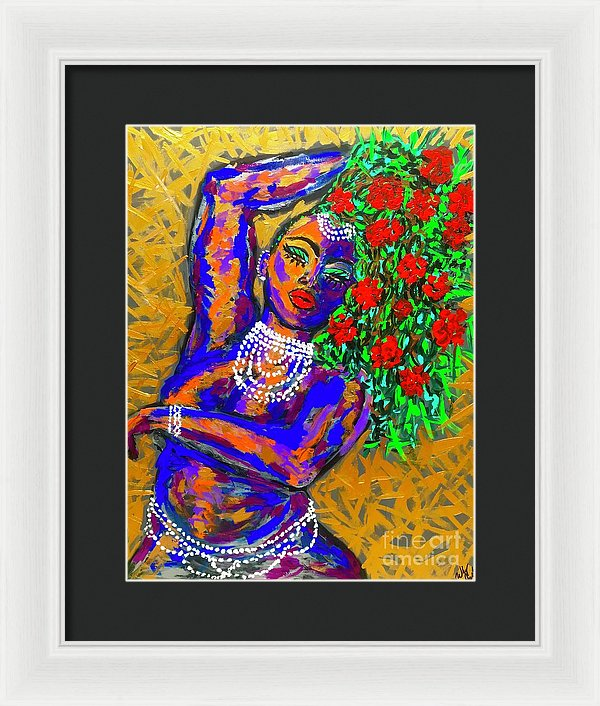 Cant Buy Flowers To A Rose - Framed Print