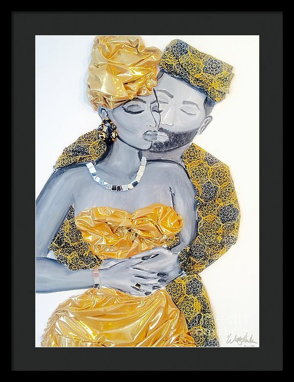 Golden Love - Framed Print