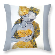 Golden Love - Throw Pillow