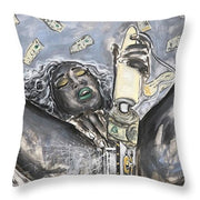 Money Makes Me Cum - Throw Pillow
