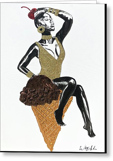 One Scoop - Greeting Card