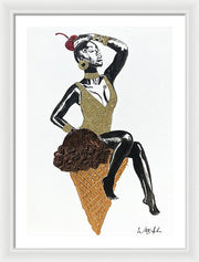 One Scoop - Framed Print