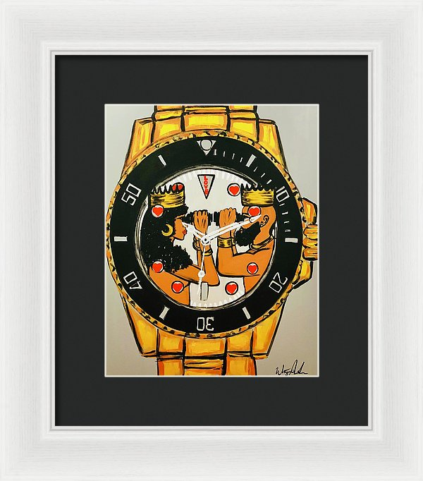 Right On Time - Framed Print