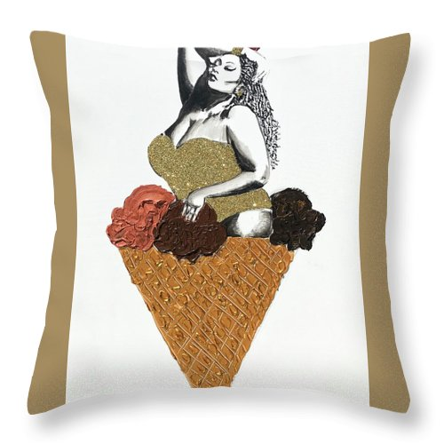 Three Scoops - Throw Pillow