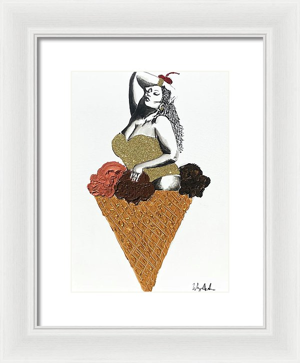 Three Scoops - Framed Print