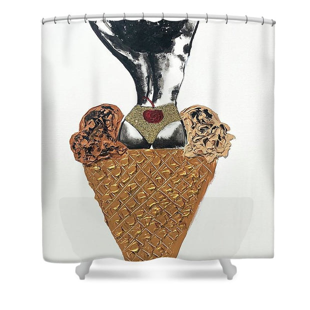 Two Scoops - Shower Curtain