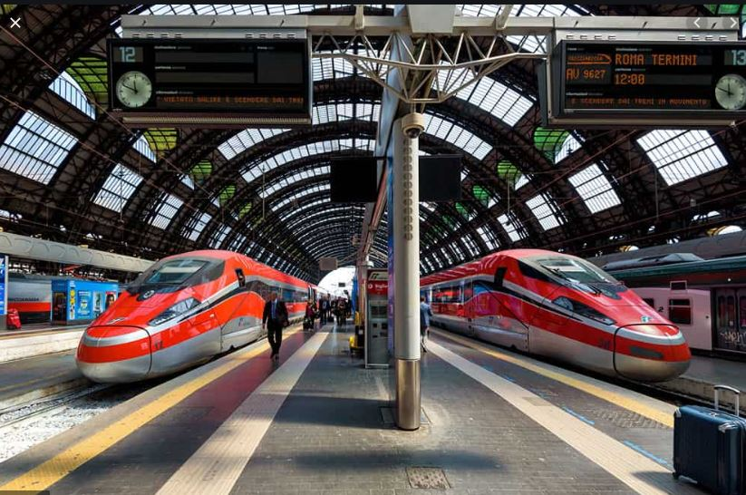 Traveling from City to City in Italy by train: