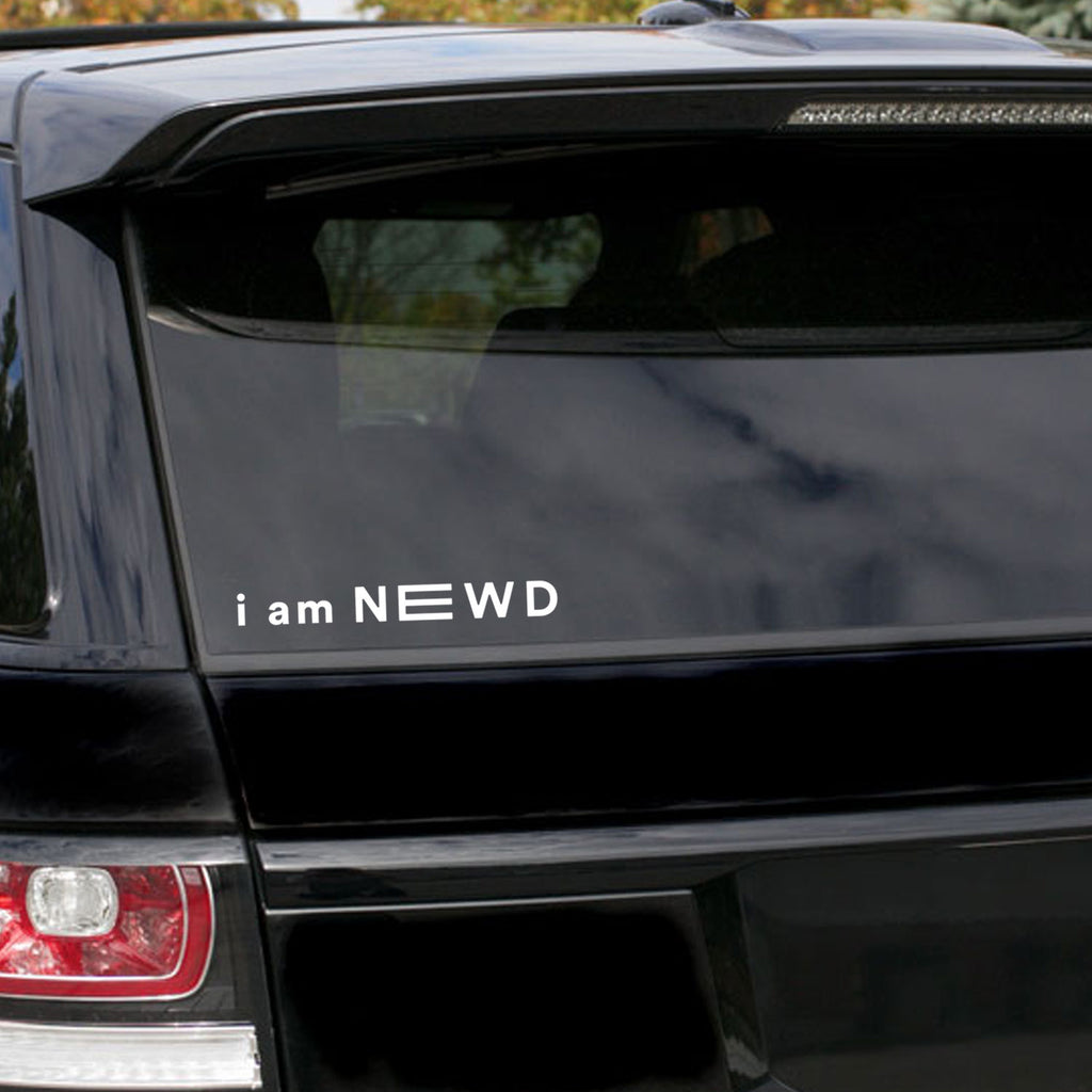 I AM NEWD DECAL WHITE - 9""