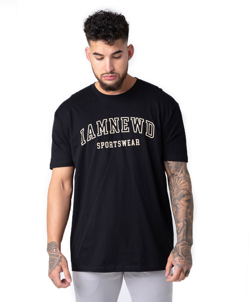 IAMNEWD SPORTSWEAR T-SHIRT BLACK/NUDE