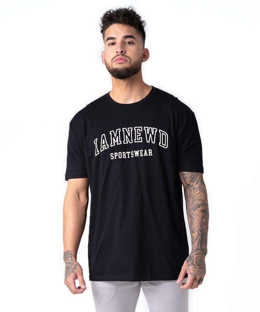 IAMNEWD SPORTSWEAR T-SHIRT BLACK/WHITE