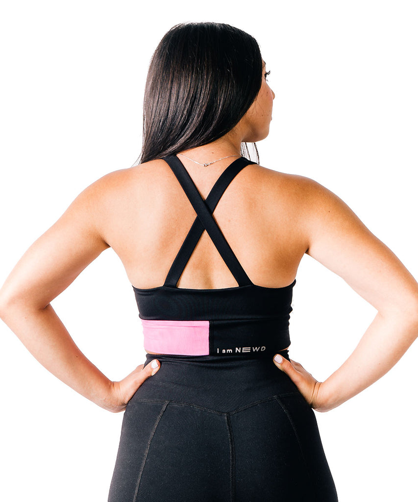 FLASH SPORTS BRA BLACK/PINK