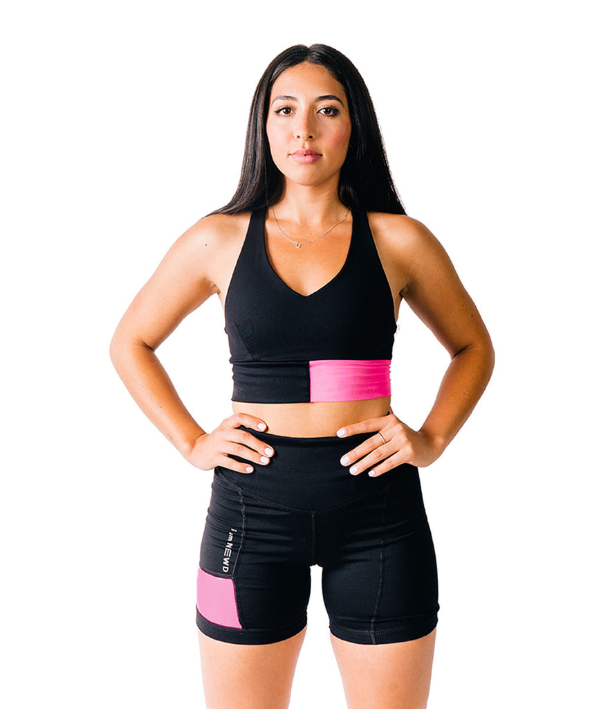 FLASH SHORTS BLACK/PINK