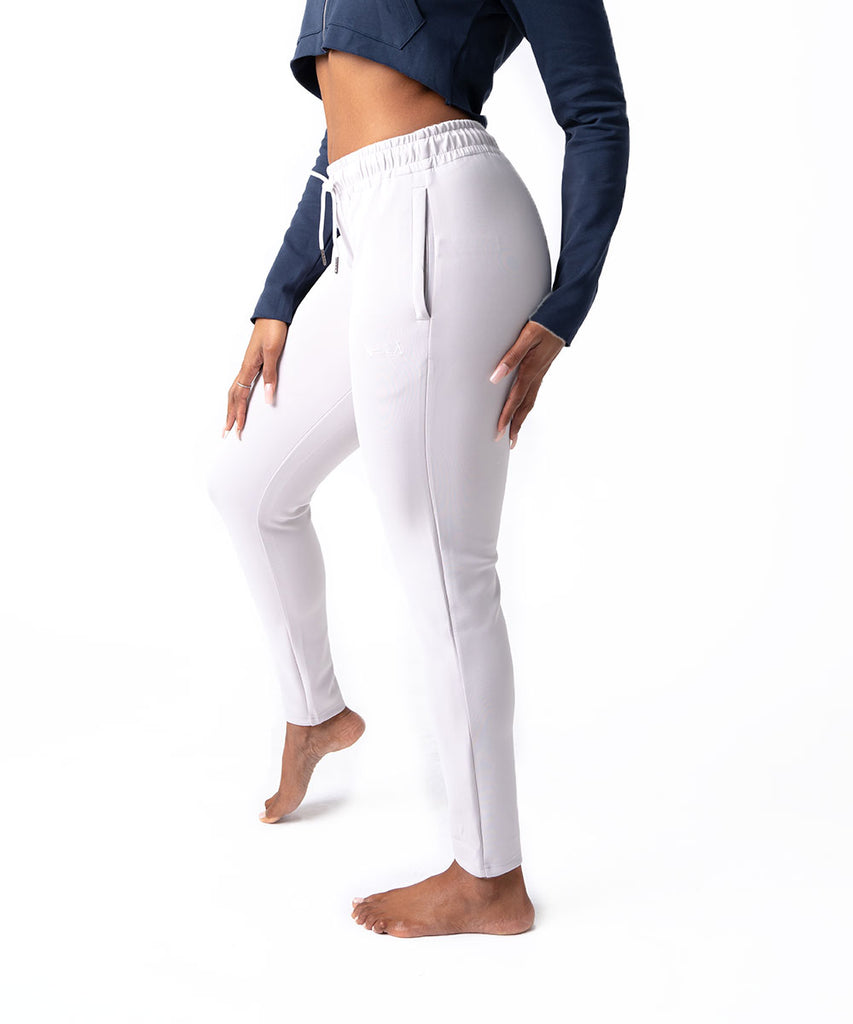 SILK TECH TRACK PANTS SILVER
