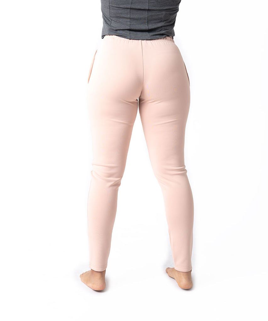 SILK TECH TRACK PANTS NUDE