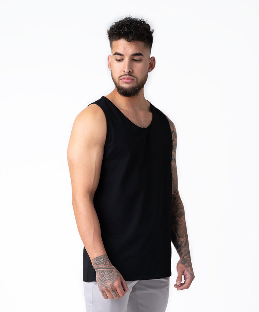 FORCE MUSCLE TANK BLACK