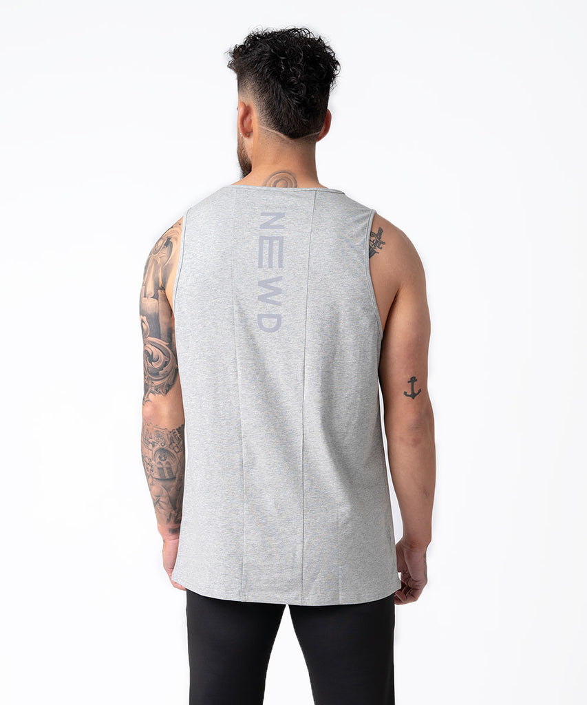 FORCE MUSCLE TANK HEATHER GREY