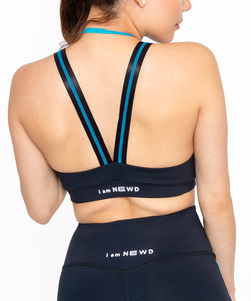 N4 SPORTS BRA BLACK/TURQUOISE